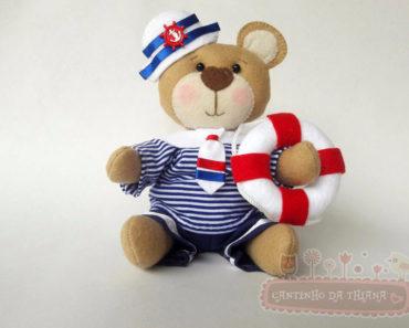 urso marinheiro em feltro